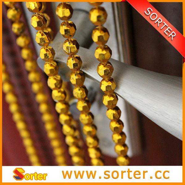 hochwertige dekorative goldenem plastik kette vorhang. Black Bedroom Furniture Sets. Home Design Ideas
