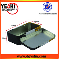 New fashion designed customize greeting card tin box for business name card packing