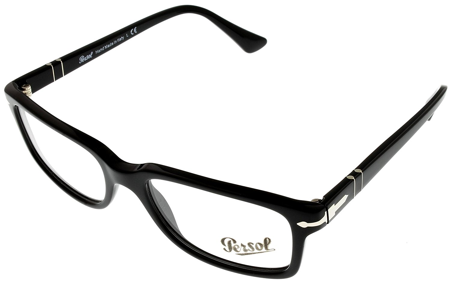 ba51d9c33d9 Get Quotations · Persol Prescription Eyeglass Frames Unisex Rectangular  Black PO3130V 95
