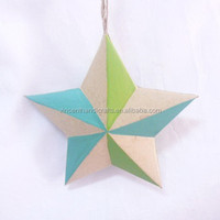 Decorative hanging paper lucky star in different colors