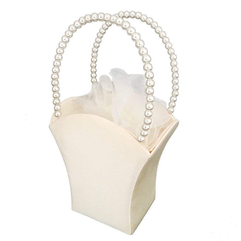 Cheap ivory flower basket find ivory flower basket deals on line at lapuda simple satin flower girl basket ivory izmirmasajfo