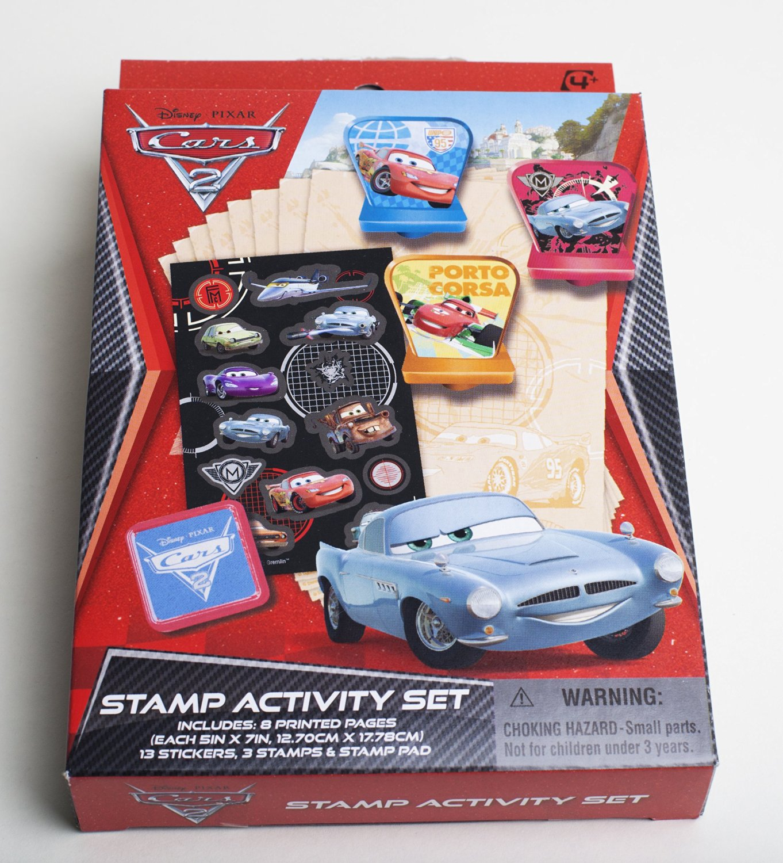 Disney Pixar The World of CARS stamp activity set