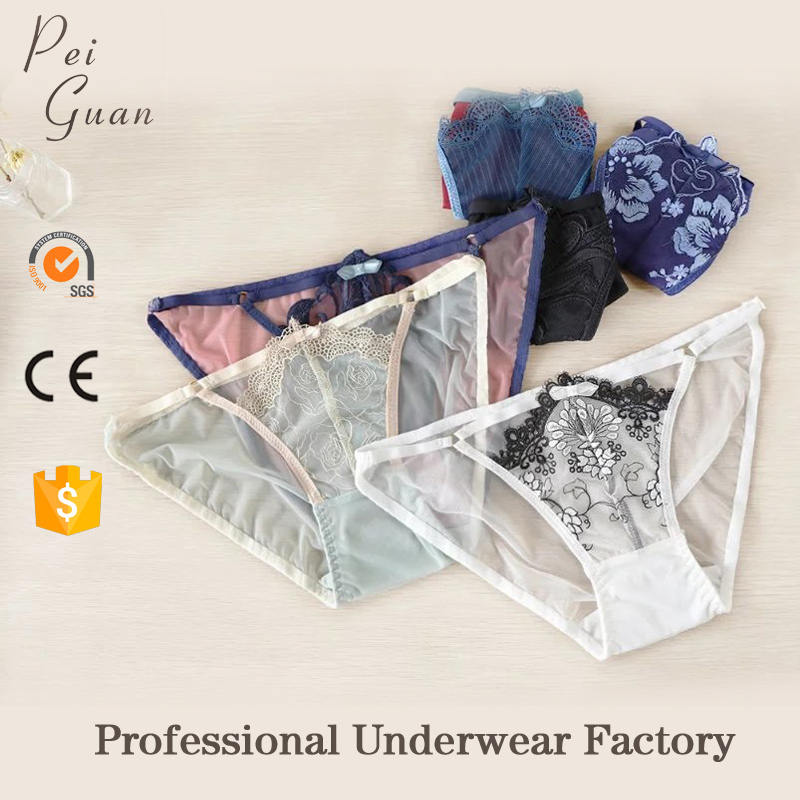 guangzhou factory wholesale female undies underpants girls transparent women panties for beauty