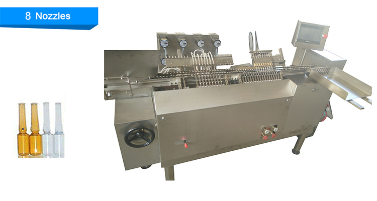 Pharmaceutical Plastic Or Glass Bottles Ampoule Filling Sealing Machine / Ampoule Filling Machine