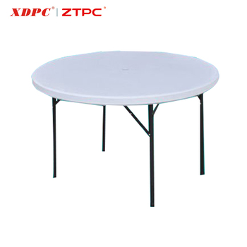HDPE Plastic Folding Portable Round Square Tables With Casters