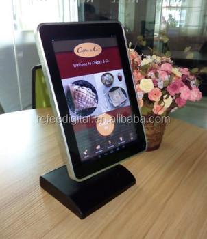 Digital Restaurant Tabletop Menu