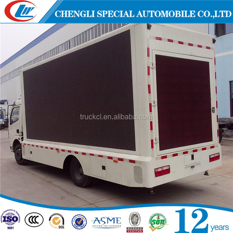 China made 2016 best selling 4x2 mobile advertising van price, mobile stage truck for sale