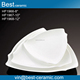 Creative design white triangle shape embossed machine to make ceramic plates
