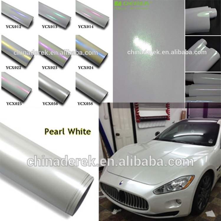 Pvc Material And Body Stickers Use Pearl White Car Wrap Glossy Car