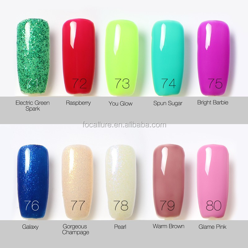 Famous Brands Waterproof Bling Color Nail Gel Polish Most