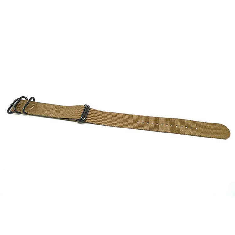 Custom Size PVD Buckles Solid Color Nato Nylon Watch Strap
