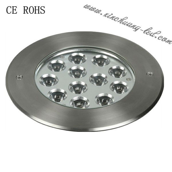 IP67 DC12/24V 12X3W round LED inground light led par16 rgb