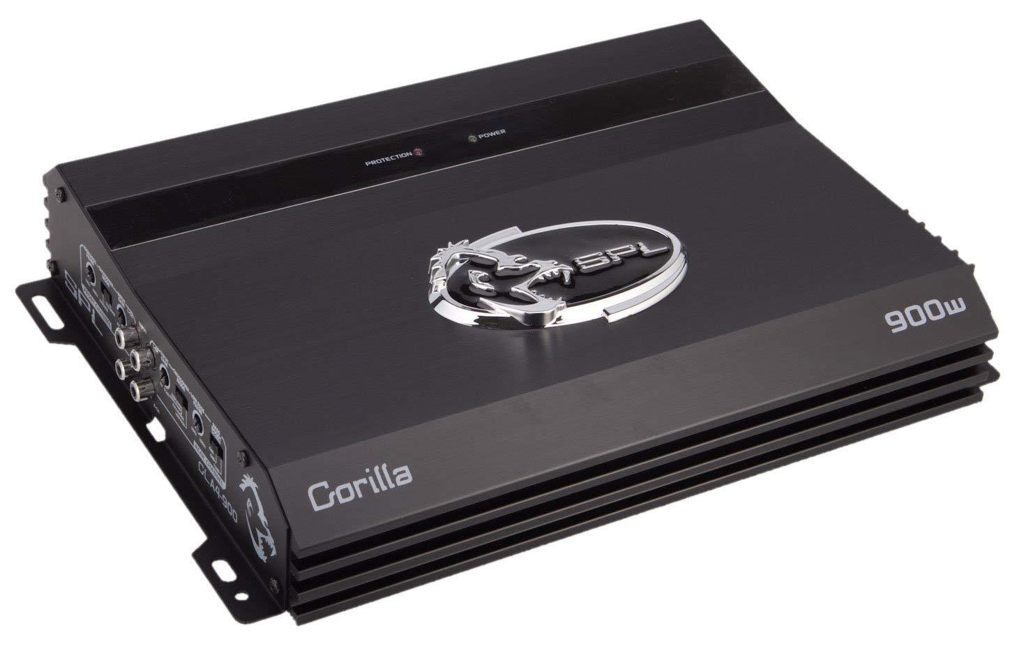 SPL Audio Gorilla GLA4-900 Car Amplifier - 4 x 80 W @ 4 Ohm - 4 x 100 W @ 2 Ohm - 900 W PMPO - 4 Channel - Class AB - Bridgeable - 100 dB SNR - 0.5% THD - 15 Hz to 20 kHz - MOSFET Power Supply - 3-way