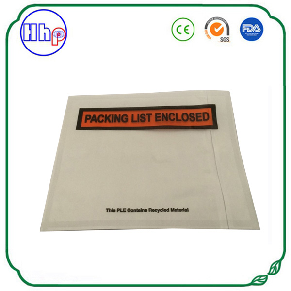 A4 size red printed packing list enclosed slip holders customized ,