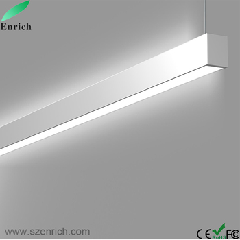24w Up And Down Lighting Led Contemporary Linear Suspended Fixtures Double Side View Light