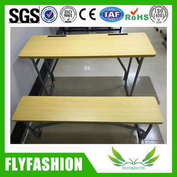 Latest Classroom Double Table Design School Bench Desk Table For Study