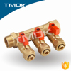 TMOK 3 way brass manifold for heating system with F/M thread