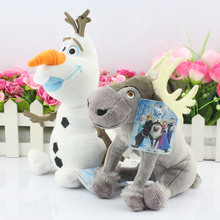 Olaf Snowman Plush Toy Sven Milu Deer Toys Princess Elsa plush Anna Plush Doll Toys