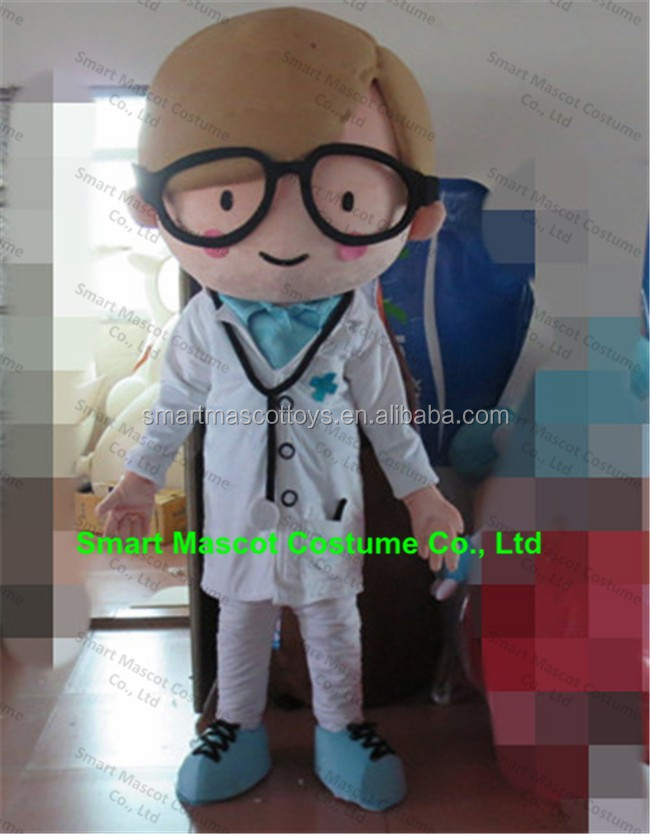 Popular fancy dress plush material handsome doctor costume for adult doctor costume