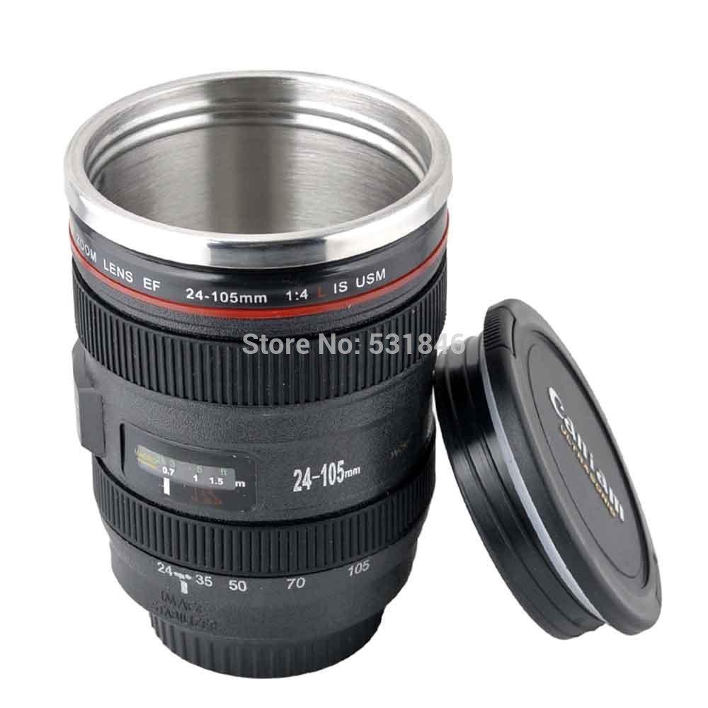 New ef 24 105mm camera lens travel coffee mug cup - Travel mug stainless steel interior ...
