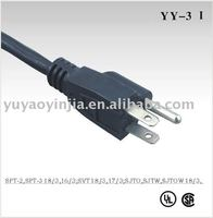 Ac line cord cord sets UL/CSA approvals for North American type