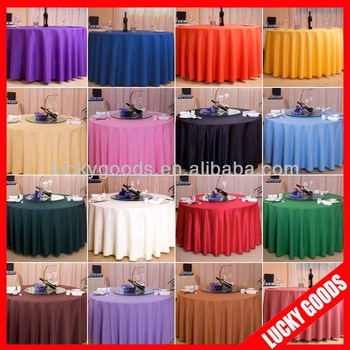 Colored Polyester Wedding Decoration Table Cloth