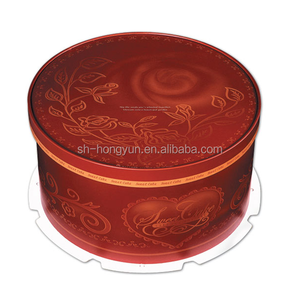 Round paper cake box packaging cake drum
