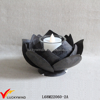 Wholesale Vintage Single Metal Lotus Candles Holder Buy Metal