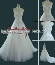 EB707 2015 brand new V-neckline tulle ball gown evening dress beading birdesmaid dress bridal gown