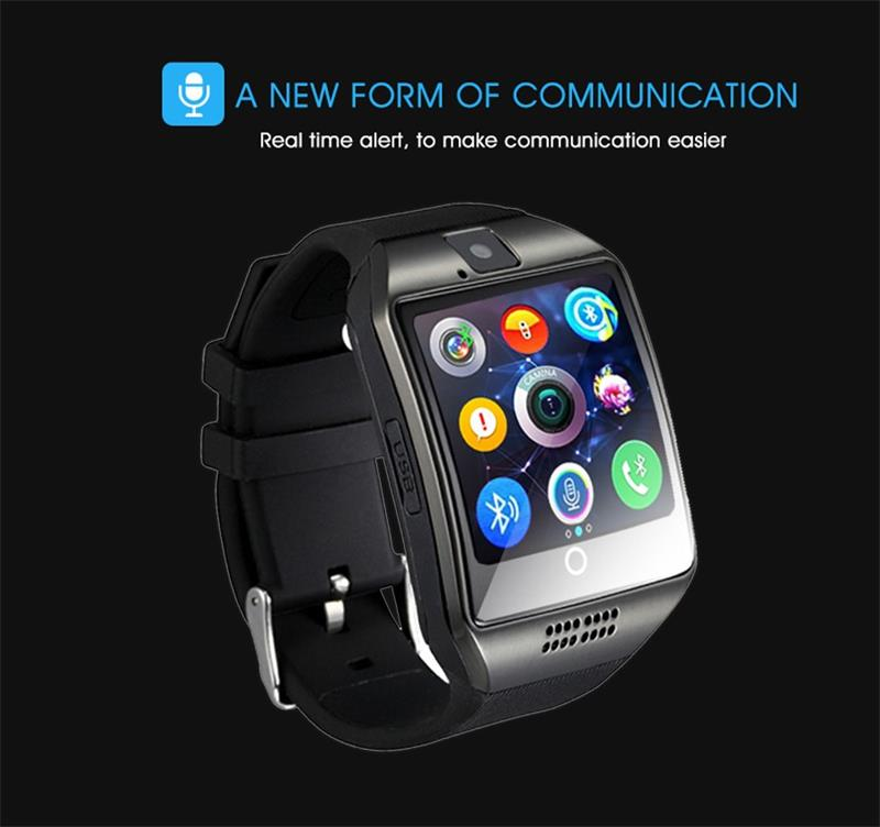 Q18 bluet ooth Smart Watch Touchscreen with Camera,Unlocked Watch Cell Phone with Sim Card,Smart Wrist Watch