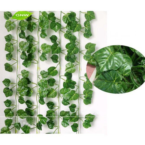 GNW FLV13 Fake Ivy Leaf Home Garden Landscaping Real Touch Artificial Leaves Vine