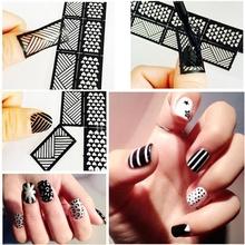 1Pcs Nail Art Hollow Printing inkjet sticker Stamp Templates DIY Template Nail Art Decoration Nail Polish
