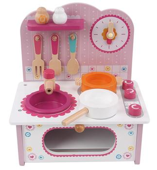 Children Toys New 2016 Style Kitchen Baby Pretend Play Wood Stove Cooking  Station Toy Kitchen