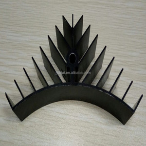 beautiful design customized like tree aluminium extrusion profile for heat sink