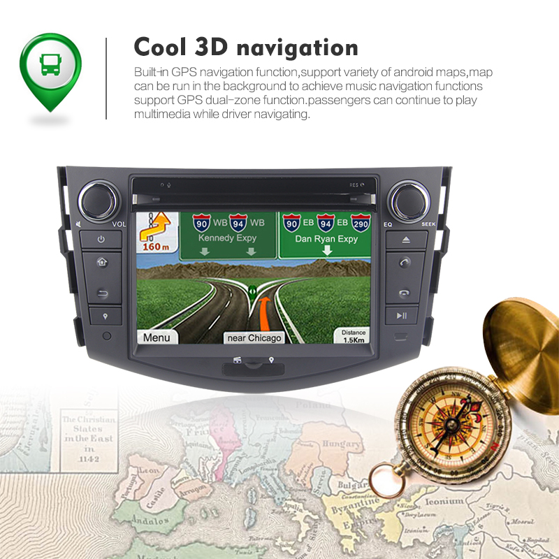 "7 ""RK PX30 android 9.0 Quad-core Bluetooth autoradio dvd audio système de navigation pour RAV4 2006- 2012"