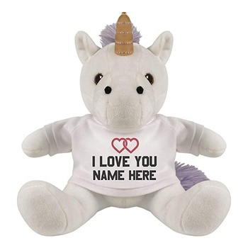 Custom Soft Toys Stuff Unicorn Plush Toy stuff toys unicorn