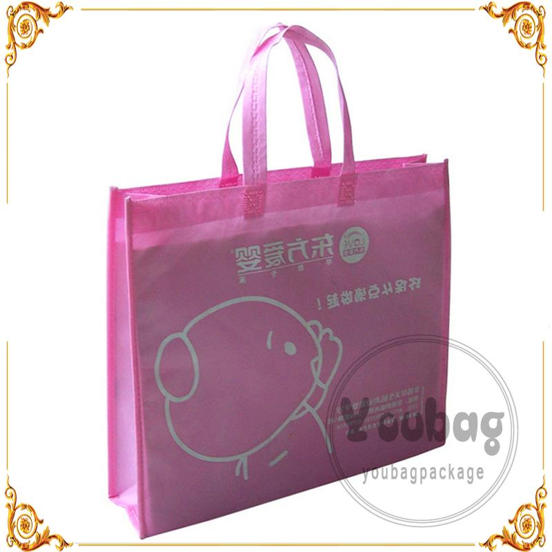 eco-friendly beautiful pp coated customized logo printed bag china non woven bags for office