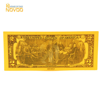 New design USA old dollar bill banknotes with 24k gold plated for collection