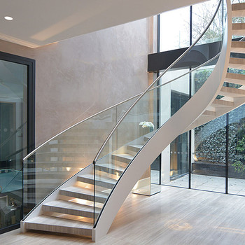 Charmant Staircase Glass Railing Designs Curved Staircase Cost