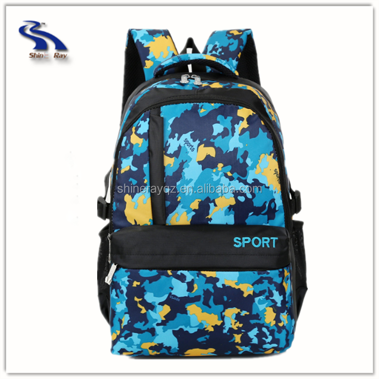 camouflage backpack travel bag fashionable school back pack