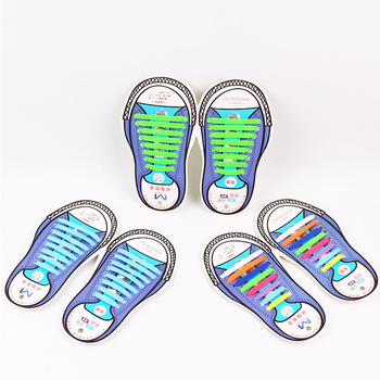8c66ded284ef Multi color Lazy Elastic Printed Custom Logo Silicone No Tie Shoelaces