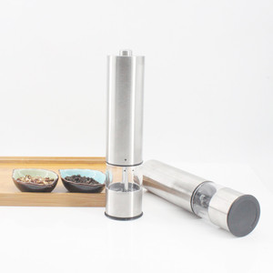 Electric salt and pepper set stainless grinder