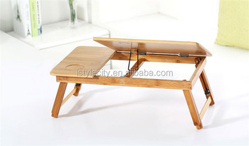 Portable wooden bamboo laptop bed table for laptop buy bamboo laptop table e table portable - Bed tafel ...