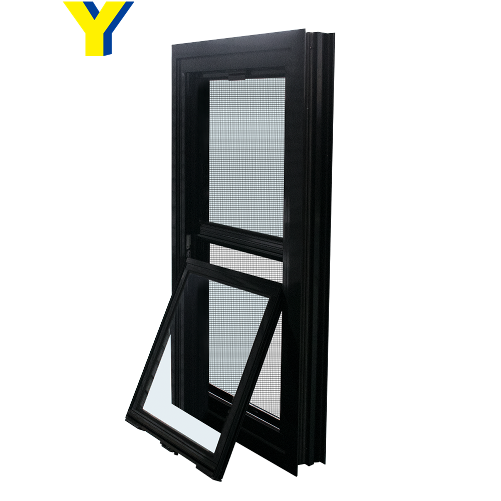 YY aluminium double hung window/aluminium windows and doors comply with Australian & New Zealand standards
