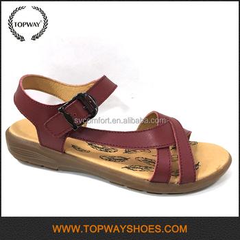 Latest Lady Fancy Leather Sandal Design