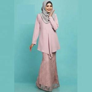 981befce58175 Urban Muslim Clothing Ladies Indonesia Kebaya Pink Baju Kurung and Baju  Melayu