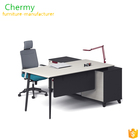 2018 modern E1 MFC stock melamine office manager wood table/executive aluminum office desk CM-OT002