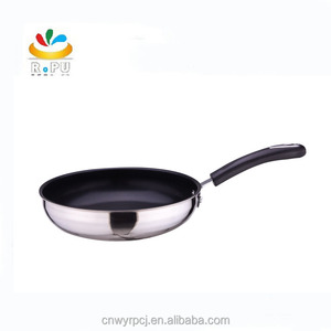 Christmas gift Stainless Steel frying Pan For Kitchen Or Camping dosa pan/tawa frying pan/wholesale frying pan