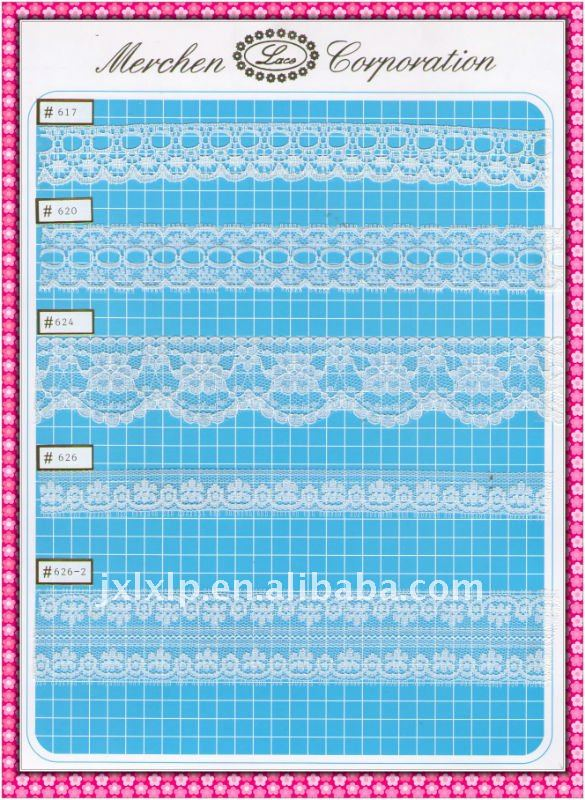 white nylon lace ribbon