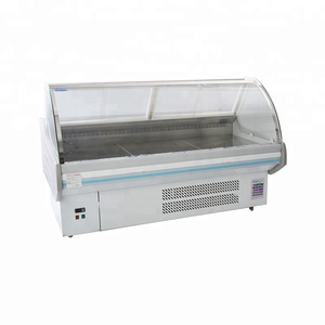 commercial supermarket display meat refrigerator deli equipment